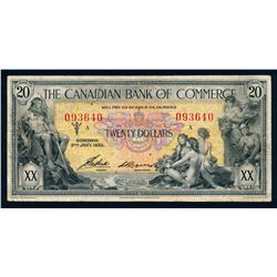 CANADIAN BANK OF COMMERCE 1935 $20.00 16-18-10 Fine
