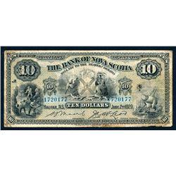 BANK OF NOVA SCOTIA 1929 $10.00, 550-18-20b Very Good