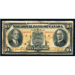 THE ROYAL BANK OF CANADA 1933 $10.00. 630-16-04 Very Good