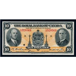 THE ROYAL BANK OF CANADA 1935 $10.00. 630-18-04a Extra Fine