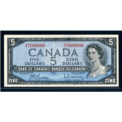 BANK OF CANADA 1954 $5.00 BC-39b-N3 Million Numbered Note Choice UNC-64