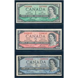 BANK OF CANADA 1954. A Complete Modified Portrait Set of 8 Notes