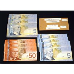 BANK OF CANADA 2004-2006. A Lot of 3 Groups of Canadian Bank Notes