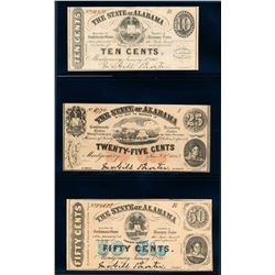 USA 1863 State of Alabama A lot of 3 Pieces C UNC Set