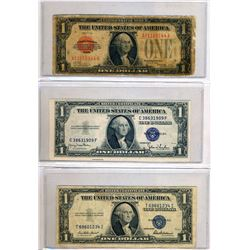 USA 1928-2003 A Binder of 34 Mixed Bank Notes $1.00-$20.00 in Good-UNC FV $87.00