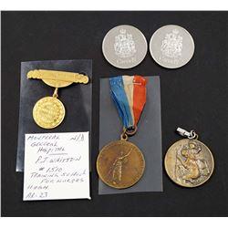 CANADA 1918-1983 A Lot of 5 Canadian Medals VF-UNC
