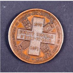 FRANCE 1870 Battle of Chateaudun Named AE-42 Medal by Secours Aux Blessés EF