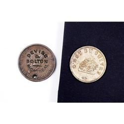 CANADA A Lot of 2 Tokens Devins & Bolton & Unknown Napoleon Bust