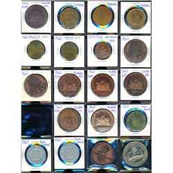 CANADA 1962-1996 A Lot of 39 Pieces Numismatic Coin Club Medals and Tokens