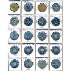 CANADA 1962-1996 A Lighthouse Binder w/104 Canadian Trade Dollars