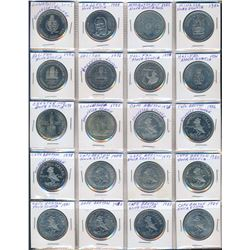 CANADA 1966-1997 A Binder of 151 Trade Dollars and Assorted Medals
