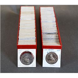 CANADA 1967-1991 A Lot of 152 Canadian Trade Tokens in 2 x 2 Holders