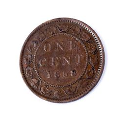 CANADA 1858 Province of Canada One Cent in Fine