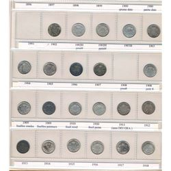 CANADA 1902-2017 A Uni-safe Binder w/ a Year Set of 5 Cents in Fine-UNC