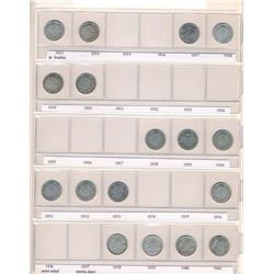 CANADA 1902-2017 A Lot of 111 Pieces of 10 Cents Coins in Uni-Safe Binder Good-Unc