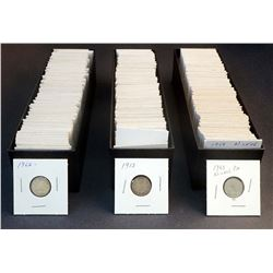 CANADA 1913-1968 A Lot of 258 Pieces of Ten Cents in Low Grade Approx. 14 oz. Silver