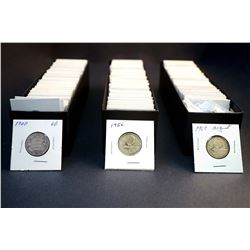 CANADA 1900-1975 A Lot of 292 Pieces of 25 Cents in Low Grade Approx. 38 oz.Silver