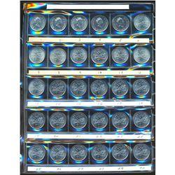2000 A Large Binder Holding 21 Uni-Safe Quarter Pages w/574 Millenium Error Coins