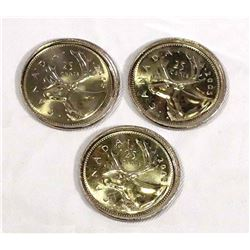 2005 Elizabeth II 3 x Error Coins Off Centre Strike Uncirculated