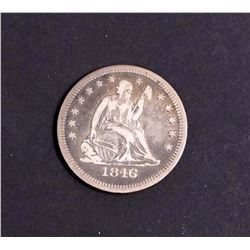 USA 1846 Liberty Seated 25 Cents Type 1 in Fine-15