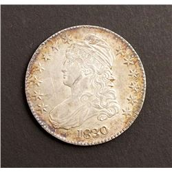 "USA 1830 Capped Bust Small ""O"", Small letters Half Dollar in AU-55"