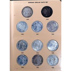USA 1878-1935 A Dansco Date Set Book with 41 Silver Dollars VG-BU