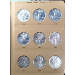 USA 1986-2016 A Dansco Book of 24 One Ounce American Eagles All Gem BU