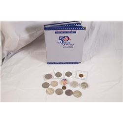 1865-2008 A 64 Piece Lot of Mixed USA Coins & Medal 6.0 tr.oz.Silver