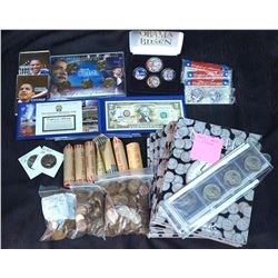 USA 1907-2010 A Box Lot of Mixed Coins and Collectibles over 1400 Pieces G-BU