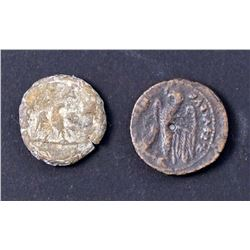ANCIENT COINS A Lot of 2 Alexandrian Greek and Roman Provincial Coins