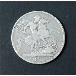 1821 Great Britain Crown KM# 680.1 27.7 gms Fine