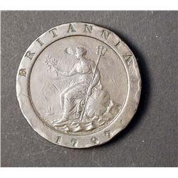 1797 Great Britain 2 Pence KM# 619 Fine