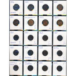 GREAT BRITAIN 1826-1936 A Lot of 72 Farthings Fine-Unc