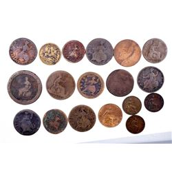 GREAT BRITAIN 1710-1917 A Lot of 20 Farthing-Penny Copper Collection G-EF