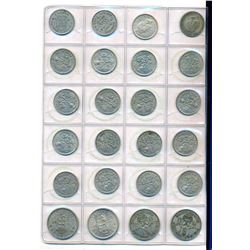 GREAT BRITAIN 1799-1982 A Uni-Safe Blank 25 C. w/87 Farthings to Shillings VF-UNC
