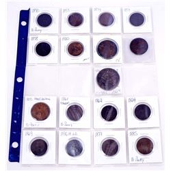 GREAT BRITAIN 1831-1902 A Lot of 17 Penny,Half Penny & Crown Fine-EF