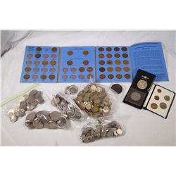 1813-1977 A Large Lot of 677 Bristish Cupro-nickel Coins, Brass and Copper Coins