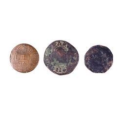 ITALIAN STATES 1630-1700 A 3 Coin Lot of Lower Grade Mixed States