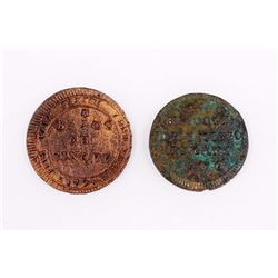 ITALIAN STATES 1796-1797 A 2 Coin Lot of Rome in Fine-VF+