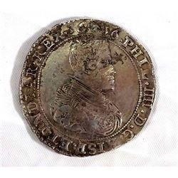 1636 Spanish Netherlands Ducaton Phillip IV Brabant KM# 72.1 32.1 gms. Very Fine