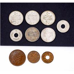 PALESTINE 1927-1946 A 10 Piece Dealer Lot VF-UNC