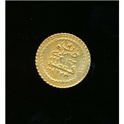 TURKEY AH-1223 Year 9 Mahmud II 1/4 Zeri Mahbub KM# 608 Gold Coin .0257 tr.oz.