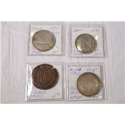 1780-1934 A Lot of 4 World Coins under $100.00 each. Should be viewed