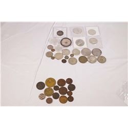1780-1984 A 38 Piece Starter Group of Mixed World Coins 25 Silver & 13 Copper