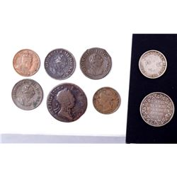 WORLD A Lot of 8 Commonwealth Coins Silver and Copper Good-Fine