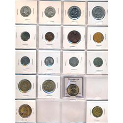 WORLD 1837-2000 A Lot of 129 Coins, Medals and Tokens from Around the World