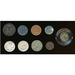 World An 9 Coin Lot of Minor Denominations From Several Countries VF-UNC