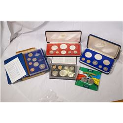 1973-2012 A Lot of 5 World Coin Sets in Original Packaging