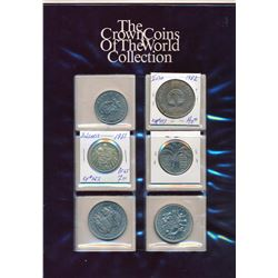 WORLD A Lot of 35 Mixed World Crowns All Uncirculated