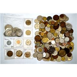 WORLD A Super Mix of 299 World Coins from Various Countries w/Many Silver Coins
